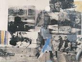 Robert Rauschenberg, Scanning 1963. Oil and silkscreen ink on canvas, 55 3/4 x 73 inches (141.6 x 185.4 cm) © Robert Rauschenberg Foundation