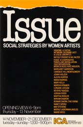 Cover of Issue: Social Strategies by Women Artists, exhibition catalogue, Institute of Contemporary Arts, London 1980