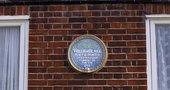 A plaque memorialising Blake's former home