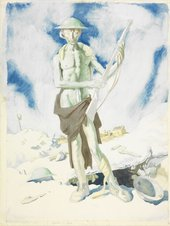 William Orpen, Blown Up, 1917, graphite and watercolour on paper, 58.4 x 43.1 cm - © Imperial War Museum