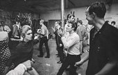 A party in full swing at Andy Warhol's Factory, New York City, c1965. Edie Sedgwick (left) dancing with Gerard Malanga (centre) and David Whitney (right), photographed by Bob Adelman