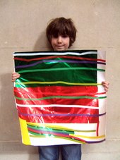 Kid-made Stripy floor