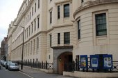 The former site of Mr Par's drawing school at the corner of Agar Street and King William Street, The Strand