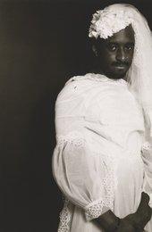 Ajamu Self-portrait in Wedding Dress 1 1993 Gelatin silver print on paper