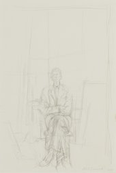 Alberto Giacometti, David – Full Length, 1955, pencil on paper, 55.2 x 37.5 cm
