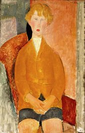 Amedeo Modigliani Boy in Short Pants c.1918 Dallas Museum of Art