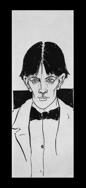 Aubrey Beardsley's illustrated self portrait