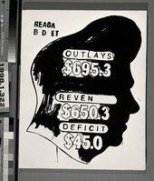 Silkscreen artwork of Ronald Reagan's head