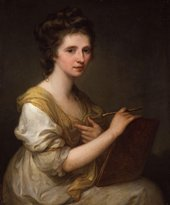 Angelica Kauffman, Self-Portrait, c.1770–5, oil paint on canvas, 73.7 × 61 cm - National Portrait Gallery, London