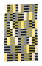 Anni Albers, Black White Yellow, 1926, re-woven by Gunta Stölzl, 1965, cotton and silk, 203.8 x 120.3 cm - © 2018 The Josef and Anni Albers Foundation/Artists Rights Society (ARS), New York/DACS, London, photo © 2018 The Metropolitan Museum of Art