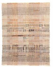 Anni Albers, Development in Rose I, 1952, linen, 57.2 x 43.8 cm - The Josef and Anni Albers Foundation