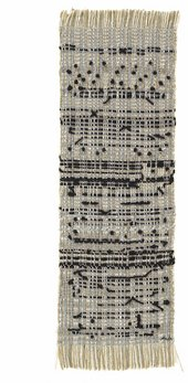 Anni Albers, Haiku, 1961, cotton, hemp, metallic thread and wool, 57.2 x 18.4 cm - The Josef and Anni Albers Foundation