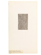 Anni Albers, study in textile appearance through imitation in corrugated paper, undated, ink and gouache on corrugated paper mounted on cardboard, 30.5 x 16.8 cm