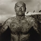 Diane Arbus, Tattooed Man at a Carnival, Md. 1970, printed after 1971 The Estate of Diane Arbus LLC
