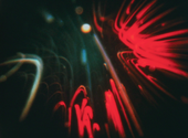 Film still showing an abstract form