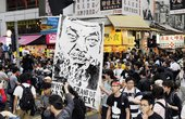 Artists march to demand the release of detained prominent Chinese artist Ai Weiwei, Hong Kong, 23 April 2011 - photo © Laurent Fievet / Getty Images