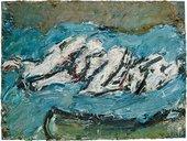 Frank Auerbach E.O.W. on Her Blue Eiderdown1965