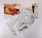 A CD with folded out accompanying booklet and notes