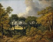 Thomas Gainsborough, Wooded Landscape with a Peasant Resting, c.1747
