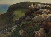 William Holman Hunt, Our English Coasts, 1852 ('Strayed Sheep'), 1852