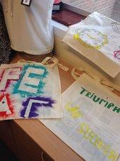 Painted bag