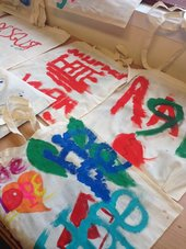 painted bags