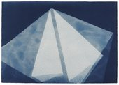 Barbara Kasten, Photogenic Painting, Untitled 74/13, 1974, cyanotype photogram, 76.2 x 101.6 cm - © Barbara Kasten, courtesy the artist, Thomas Dane Gallery, London and Bortolami, New York