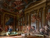 View of the Heaven Room in Burghley House, Cambridgeshire, painted by Antonio Verrio, 1697–9