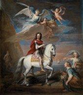 Godfrey Kneller Oil Modello for an Equestrian Portrait of William III 1714