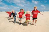 Children running on Porthmeor Beach, St Ives