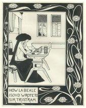 Aubrey Beardsley How la Beale Isoud Wrote to Sir Tristram c.1893