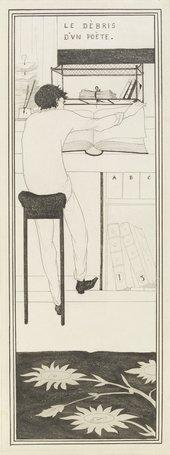 Aubrey Beardsley Le Dèbris d'un poète c1892