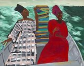 Between the two my heart is balanced, artwork by Lubaina Himid