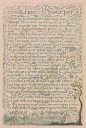 William Blake Songs of Innocence, The Chimney Sweeper 1789 Copy F, plate 12