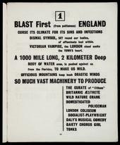 A page of Blast! vorticist manifesto