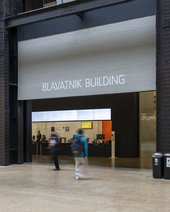 Entrance to the Blavatnik building.