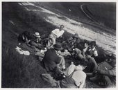 Photograph of a Bloomsbury Group picnic at High and Over, Sussex © Tate
