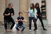 Kids striking poses