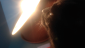Film: Cat and lens flare