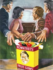 British advertisement for Rowntree's Fruit Gums from 1956 - Neil Baylis/Alamy Stock Photo