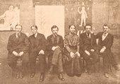 group of artists in old photograph