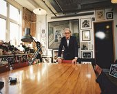 Paul Smith in his studio. Photography by Campbell Addy