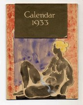 A Calendar designed by Vanessa Bell and sent to Helen Anrep and Roger Fry. © Bell Estate/Tate