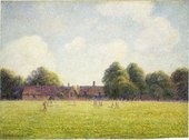 Camille Pissarro Hampton Court Green 1891 National Gallery of Art, Washington. Ailsa Mellon Bruce Collection