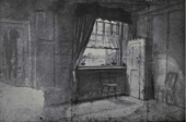 The room at number 3 Fountain Court where William Blake lived, worked and died