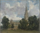 John Constable RA Salisbury Cathedral from the south-west ca. 1820 Oil sketch on canvas © Victoria and Albert Museum, London