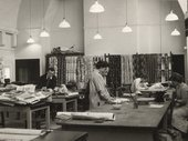 Anton Ehrenzweig teaching in the textiles studio, Central School of Arts and Crafts, London, c.1951 Photographer unknown Tate Archive TGA 201010