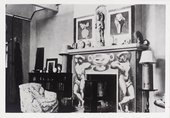 Photograph of interior decorations at Charleston farmhouse, Tate Archive © Tate Archive