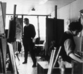 Lawrence Gowing in Chelsea School of Art, 1965 © Chelsea College of Arts, University of the Arts London