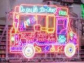 neon ice cream van